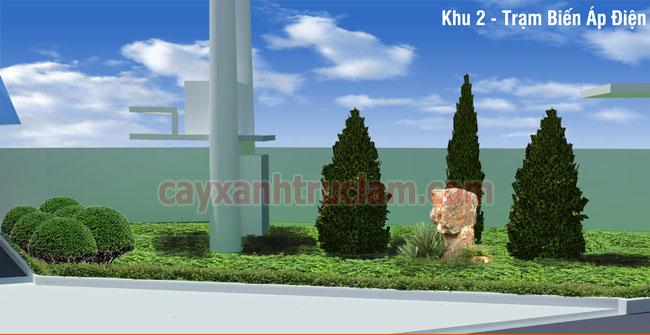 Cây Xanh trồng tại khu vực trạm biến Áp Nhà Máy Nhựa Á Đông