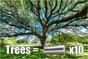 1 cây xanh bằng 10 máy điều hòa, trồng cây xanh, cây bóng mát, cây xanh